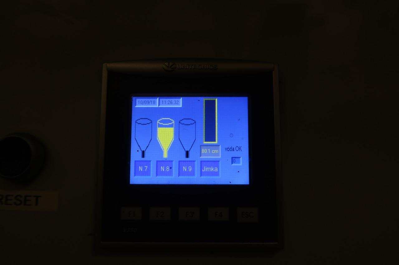 rozvaděč pro měření hladin tuku nádrží a kalové jímky firmy Pepito-OP Unitronics